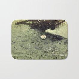 Lone Baseball; Experimental Approach Bath Mat
