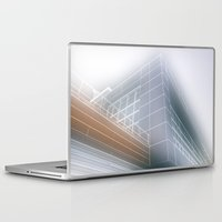 architect Laptop & iPad Skins featuring Minimalist architect drawing by Solar Designs