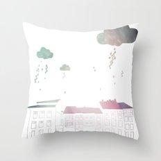 Ongi Etorri, rain Throw Pillow