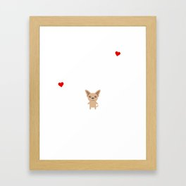 Life Without A Chihuahua Funny Cute Dog Gift Idea Framed Art Print
