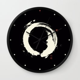 Black Enso / Japanese Zen Circle Wall Clock