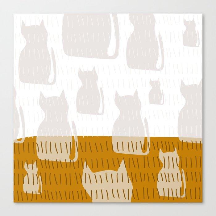 Coit Cat Pattern 4 Canvas Print