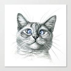 Cross Eyed cat G122 Canvas Print