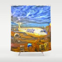 Iran Air Airbus A330 Pop Art Shower Curtain