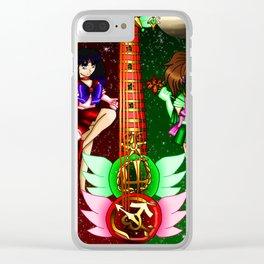 Fusion Sailor Moon Guitar #26 - Sailor Mars & Sailor Jupiter Clear iPhone Case