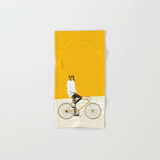 The Yellow Bike Hand & Bath Towel
