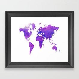 Purple Map Framed Art Print
