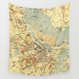 Vintage Map of Savannah Georgia (1942) Wall Tapestry