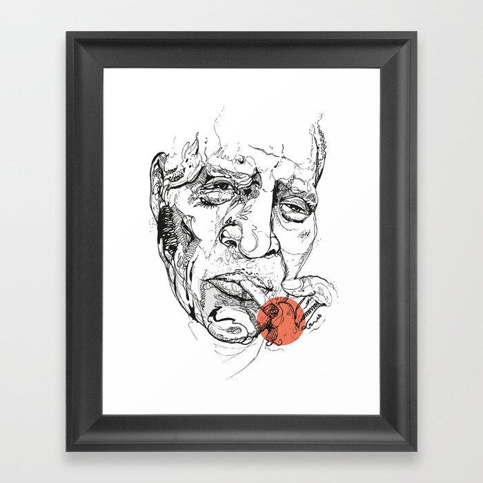 Howlin' Wolf - Get your Howl! Framed Art Print