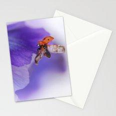 Ladybird on violet Stationery Cards