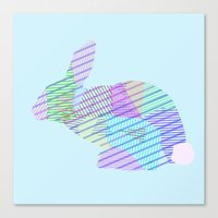 rabbit Canvas Prints featuring Rabbit by nessieness