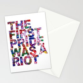 The First Pride Was A Riot Gay Pride LBGTQ Rainbow Stationery Cards