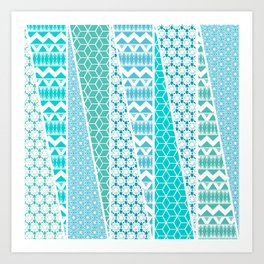 Patterned Triangles Art Print