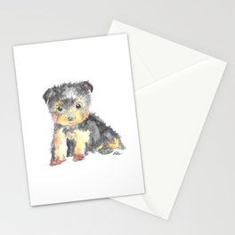 Yorkie Pup Stationery Cards