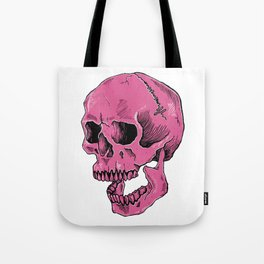 Hot Pink Skull (death is cool) Tote Bag