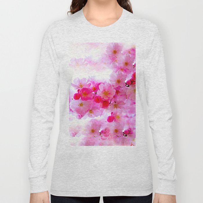 PINK CHERRY BLOSSOMS Long Sleeve T-shirt