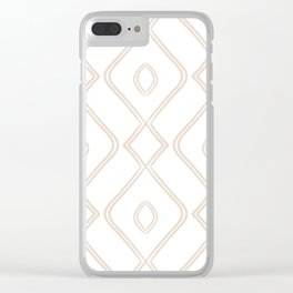 Modern Boho Ogee in Tan Clear iPhone Case