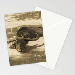 CARABAO AT TINAGA INARAJAN SEPIA TONE Stationery Cards