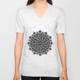 Mandala: Skeleton Leaves Unisex V-Neck