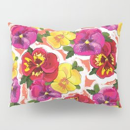 the pansy Pillow Sham