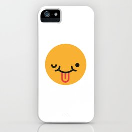 Emojis: Crazy face iPhone Case