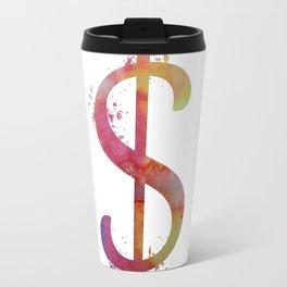 Dollar sign Travel Mug