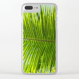 A single palm branch Clear iPhone Case