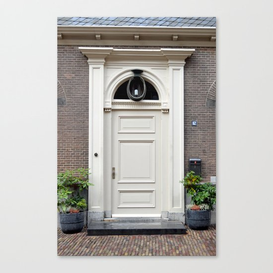 White church door Canvas Print