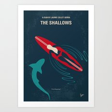 No836 My The Shallows minimal movie poster Art Print