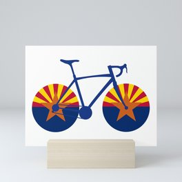 Arizona Flag Cycling Mini Art Print
