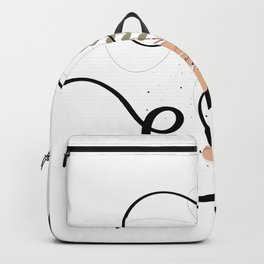 Letter H of the alphabet Backpack