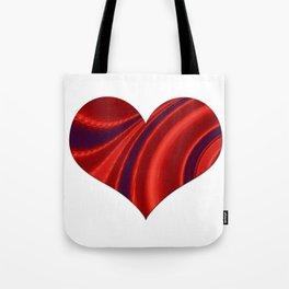 Fractal Big Heart Tote Bag