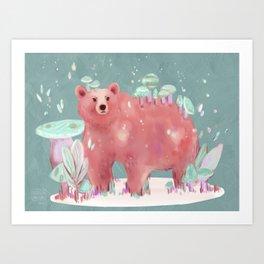 beary nice to meet you Art Print