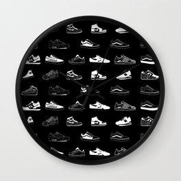 Black Sneaker Wall Clock