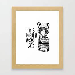 Teddy Bear Boy  Framed Art Print
