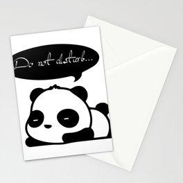 Cute panda sleep Stationery Cards