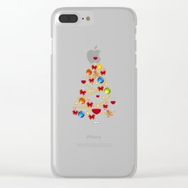 Wine Christmas Tree Alcohol Christmas Gift Clear iPhone Case