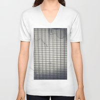 grid V-neck T-shirts featuring Grid by farsidian