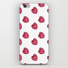 red leaf pattern iPhone Skin