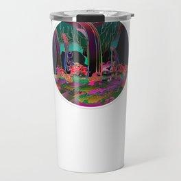 Reincarnation - Neon Waterfalls Travel Mug