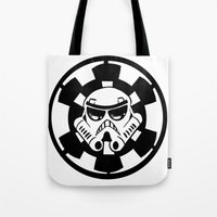 trooper Tote Bags featuring Trooper by Ana Amorim