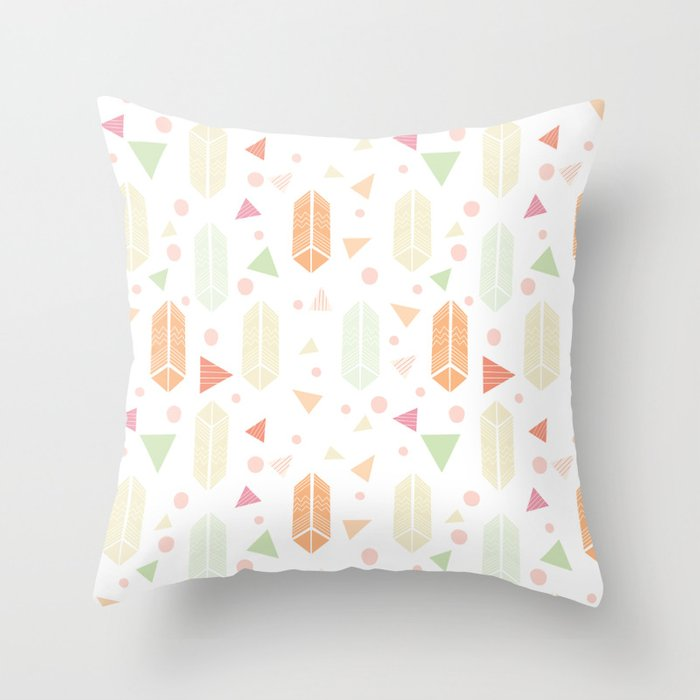 Fun Throw Pillows For Couch : Fun Shapes Throw Pillow by claudiaramosdesign Society6