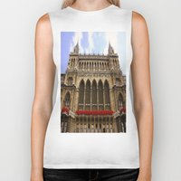 vienna Biker Tanks featuring Building in Vienna by Kim Ramage