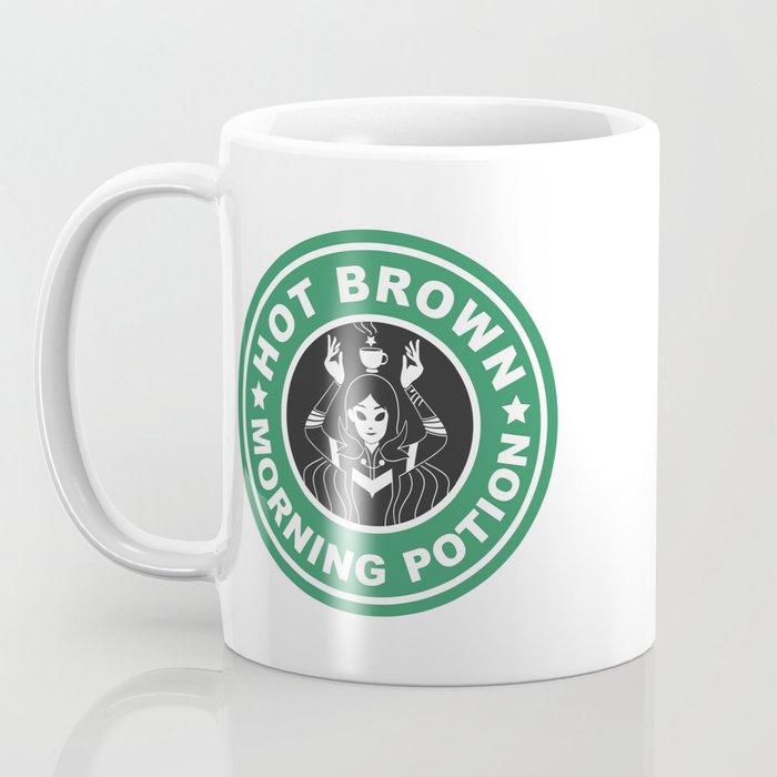 Hot Brown Morning Potion Kaffeebecher