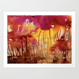 expression in red Art Print