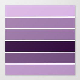 Lavender Purple Stripes Canvas Print