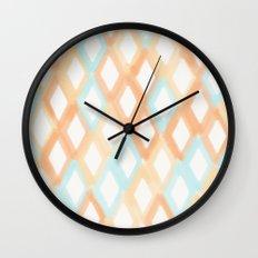 Soft Diamonds Wall Clock