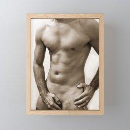 Sexy man body Framed Mini Art Print