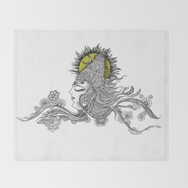 Shiva Moon Throw Blanket
