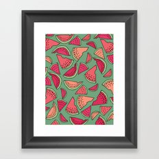 Watermelon Party Framed Art Print